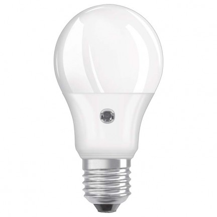 RENDL LED bulb OSRAM ADV Classic A Daylight Sensor matte 230V E27 LED EQ60 2700K G12239 1