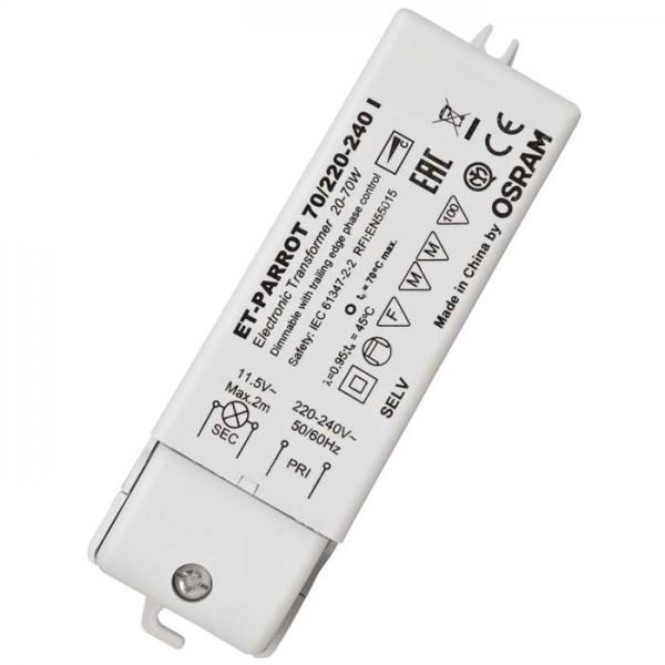 RENDL afbrydere og tilbehør TRAFO 20-70W 12V AC DIMM 12V 70W G13002 1