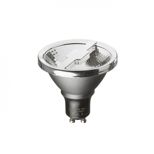 RENDL lightsource ALFA 69 silver grey chrome 230V GU10 LED 6W 24° 3000K G13406 1