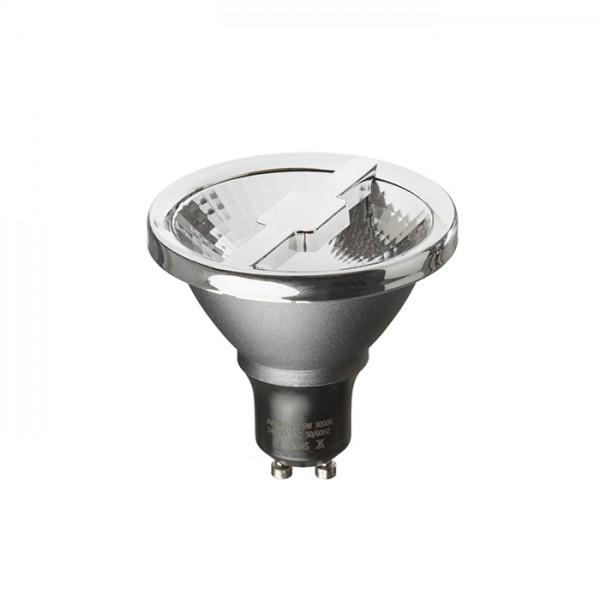 ALFA 69  striebornosivá chróm 230V GU10 LED 6W 24°  4000K
