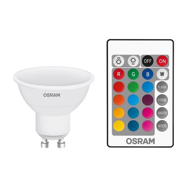 OSRAM RGBW PAR16  biela  230V GU10 LED EQ25  2700K