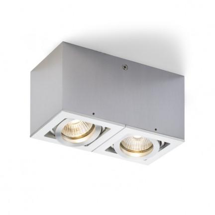 RENDL Montažna svjetiljka BERIT II aluminijum 230V GU10 2x50W R10120 1