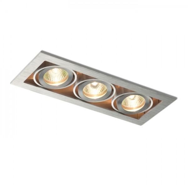 RENDL vestavné světlo FIZZ III náklopná hliník 12V GU5,3 3x50W R10148 1
