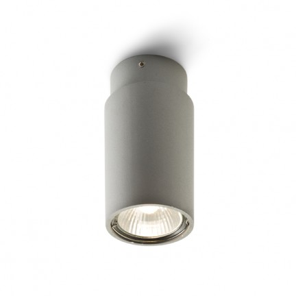 RENDL surface mounted lamp EX GU10 ceiling cylindrical silver grey 230V GU10 50W R10163 1