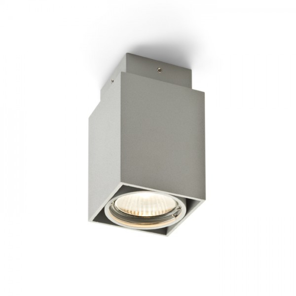 RENDL surface mounted lamp EX GU10 square ceiling silver grey 230V GU10 50W R10164 1