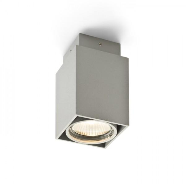 RENDL opbouwlamp EX GU10 hoekige plafondlamp zilvergrijs 230V GU10 50W R10164 1
