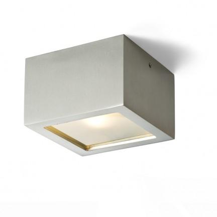 RENDL přisazené svítidlo DEZA čtvercová hliník/satinované sklo 230V G9 25W IP54 R10166 1