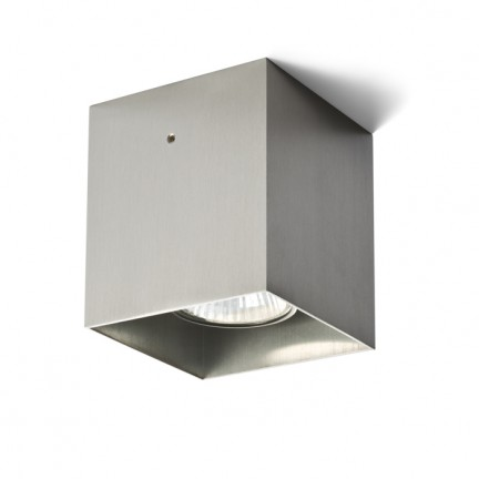 RENDL surface mounted lamp CUBO surface mounted aluminium 230V GU10 50W R10168 1