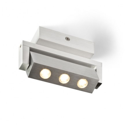 RENDL spot TICO III inclinable aluminium 230V/350mA LED 3x1W 3000K R10177 1
