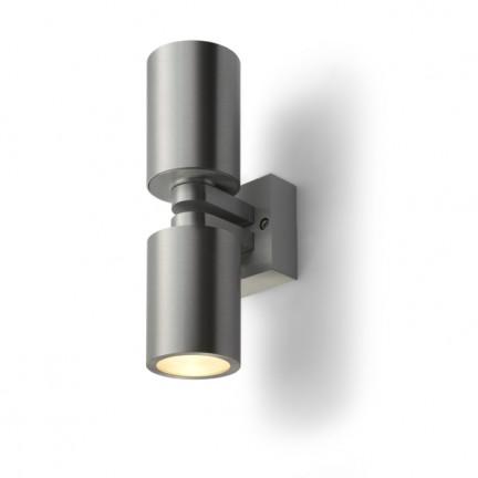 RENDL væglampe MAC B II aluminium 230V GU10 2x35W R10182 1