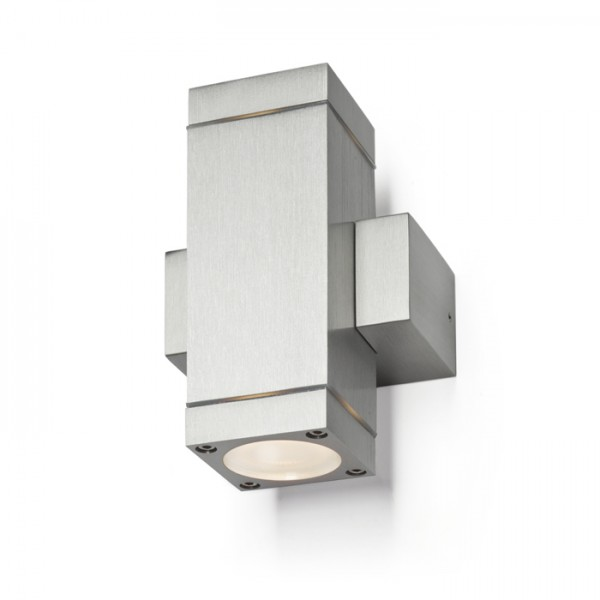 RENDL outdoor lamp CASSO II aluminium 230V GU10 2x35W IP54 R10183 1