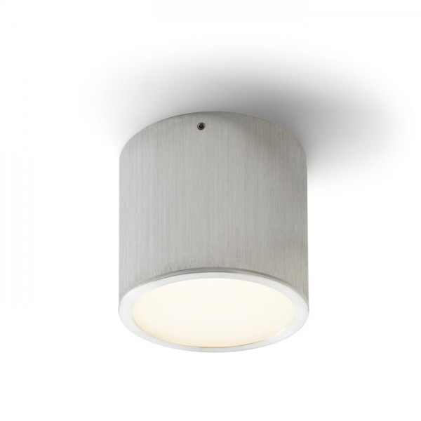 RENDL surface mounted lamp MERA LED ceiling brushed aluminum 230V/350mA LED 6W 3000K R10193 1