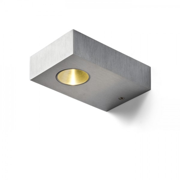 RENDL lámpara de pared NOZ LED de pared aluminio cepillado 230V/700mA LED 3W 3000K R10197 1