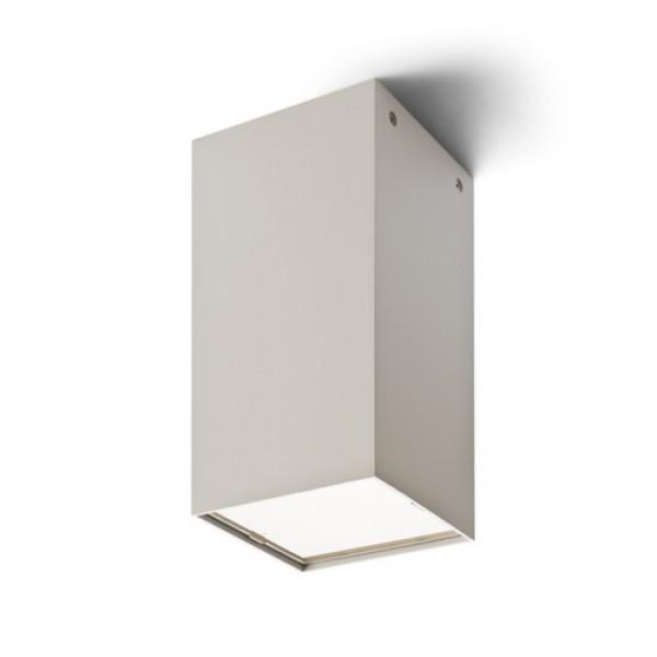 MEA stropná štvorcová  česaný hliník 230V E27 18W