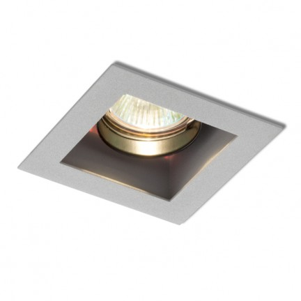 RENDL indbygget lampe MONE I retningsindstillelig sølvgrå 12V GU5,3 50W R10216 1