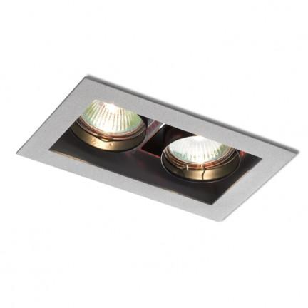 RENDL indbygget lampe MONE II retningsindstillelig sølvgrå 12V GU5,3 2x50W R10217 1
