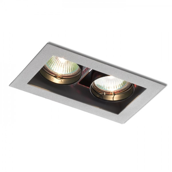 RENDL recessed light MONE II directional silver grey 12V GU5,3 2x50W R10217 1