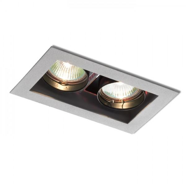 RENDL vestavné světlo MONE II výklopná stříbrnošedá 12V GU5,3 2x50W R10217 1