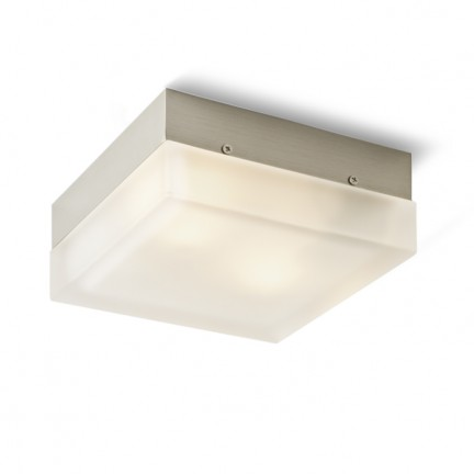 RENDL surface mounted lamp ASTONISH 185 square stainless steel 230V E27 2x28W R10221 1