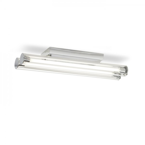 RENDL surface mounted lamp RIVIER ceiling clear glass/chrome 230V G5 2x14W R10238 1