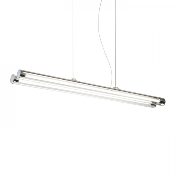 RENDL suspension RIVIER II suspension verre clair /chrome 230V G5 2x28W R10244 1