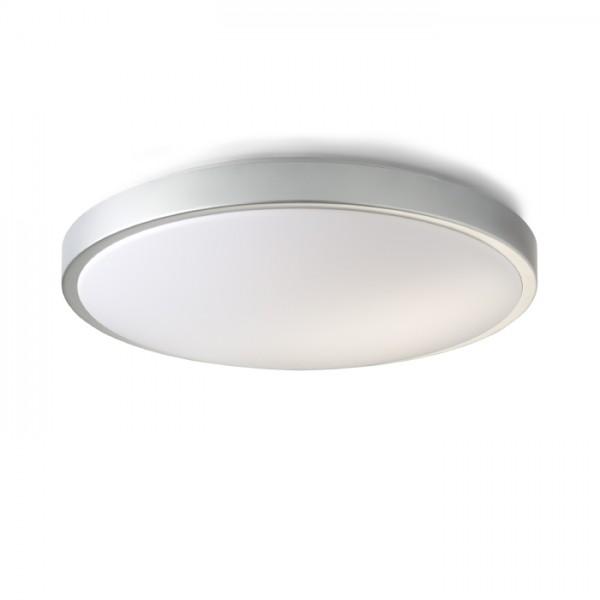 RENDL overflademonteret lampe CASINO 52 sølvgrå 230V 2GX13 22+55W R10247 1