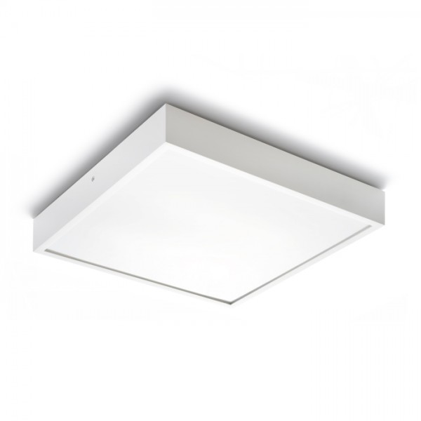 RENDL surface mounted lamp STRUCTURAL 40×40 surface mounted white 230V 2G11 2x24W R10255 1