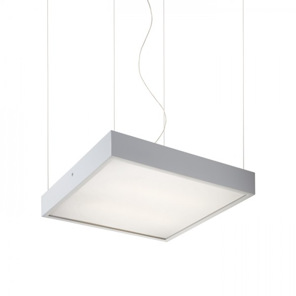 RENDL hanglamp STRUCTURAL 40x40 hanglamp wit 230V 2G11 2x24W R10258 1