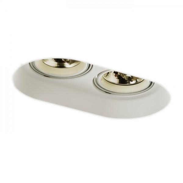 RENDL verzonken lamp DINGO II verstelbare verzonken plafondlamp Gips 12V G53 2x50W R10270 1