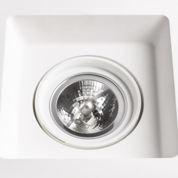 RENDL indbygget lampe DINO SQ G53 retningsindstillelig gips 12V G53 50W R10272 1