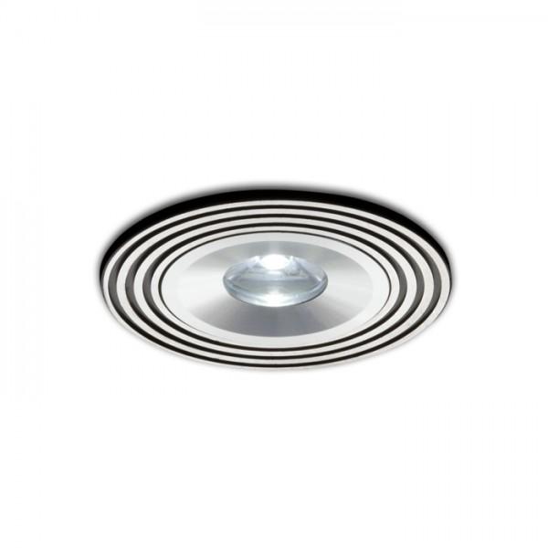 RENDL indbygget lampe SISI indbygget sort aluminium 230V/350mA LED 1W 3000K R10274 1