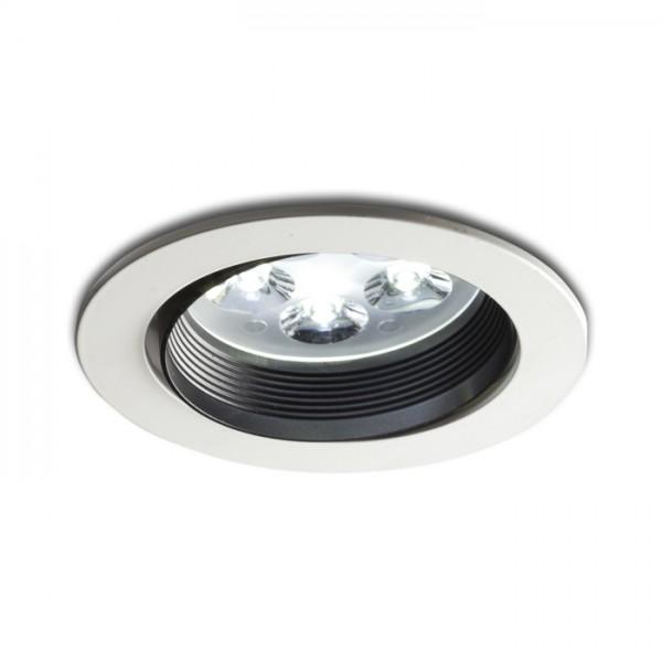 RENDL luminaire encastré JAZZ encastré blanc/noir 230V/350mA LED 5x1W 3000K R10277 1