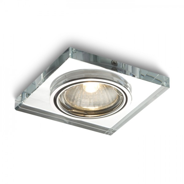 RENDL recessed light MIRROLA SQ recessed directional mirror/clear glass 230V GU10 50W R10278 1