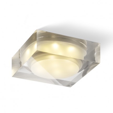 RENDL recessed light EOS SQ 7W recessed clear/satinated acrylic 230V/350mA LED 7x1W 3000K R10286 1