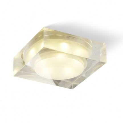 RENDL recessed light EOS SQ 5W recessed clear/satinated acrylic 230V/350mA LED 5x1W 3000K R10287 1