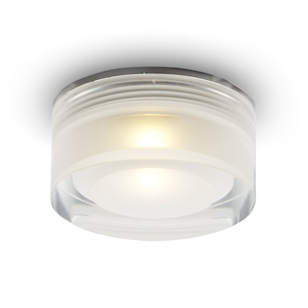 RENDL recessed light EOS R 1W recessed clear/satinated acrylic 230V/350mA LED 1W 3000K R10290 1