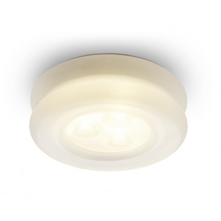 RENDL recessed light OSONA S round recessed satinated acrylic 230V/350mA LED 3x1W 3000K R10301 1