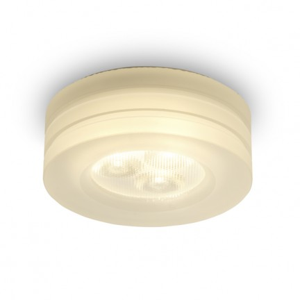 RENDL recessed light OSONA M round recessed satinated acrylic 230V/350mA LED 3x1W 3000K R10302 1