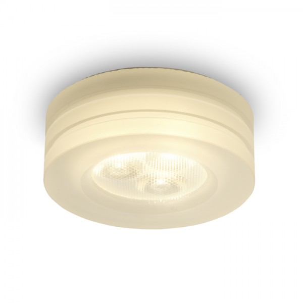 RENDL verzonken lamp OSONA M ronde inbouwplafondlamp Gesatineerd Acryl 230V/350mA LED 3x1W 3000K R10302 1