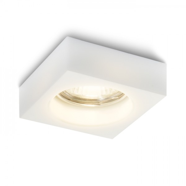 RENDL recessed light BIANCA SQ recessed opal-colored glass 230V GU10 50W R10304 1
