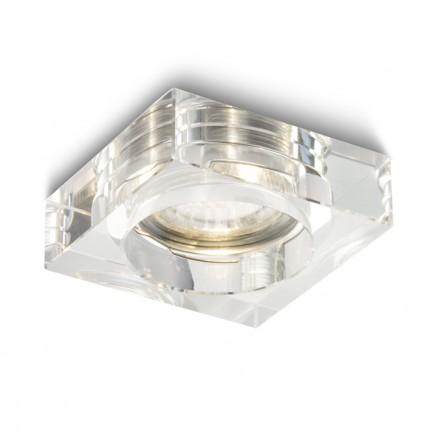 RENDL vestavné světlo BIANCA SQ zápustná čiré sklo 230V GU10 50W R10307 1
