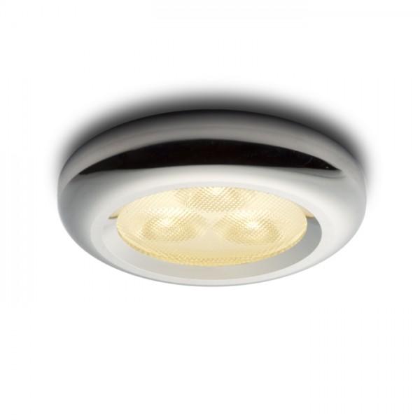 RENDL vestavné světlo ESTA LED zápustná vč. driveru chrom 230V/350mA LED 3x1W 3000K R10309 1