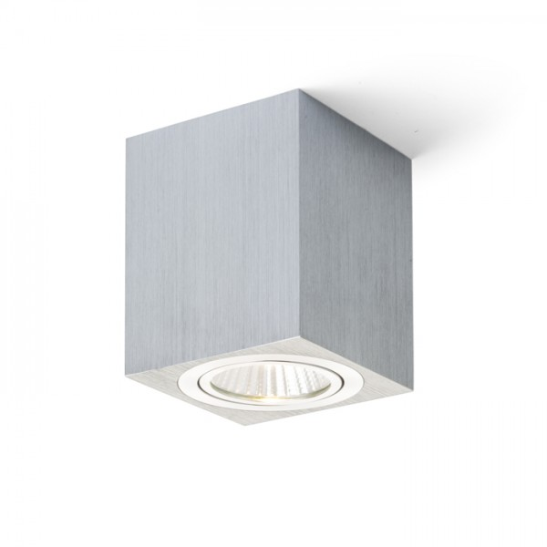 RENDL surface mounted lamp MAYO SQ ceiling directional brushed aluminium 230V/700mA LED 9W 36° 2700K R10325 1
