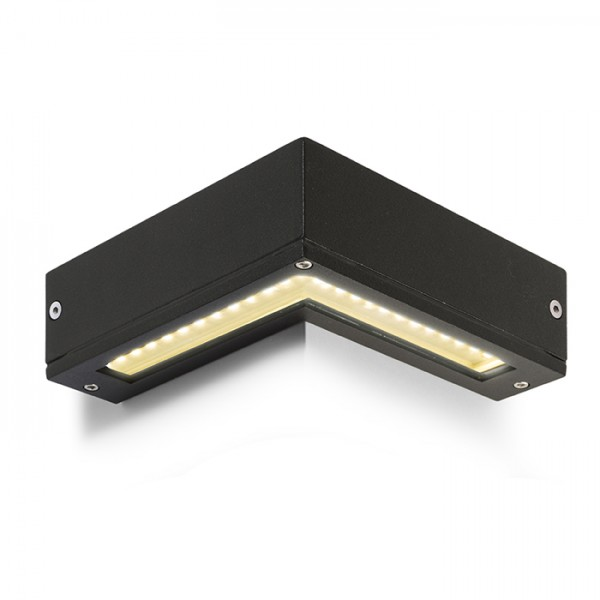 RENDL luminaria de exterior COIN de pared negro 230V LED 25x0.2W IP54 3000K R10346 1