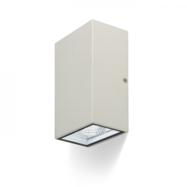 RENDL luminaria de exterior DIXIE 10x16 de pared blanco 230V/350mA LED 2x5W 84° IP54 3000K R10352 1