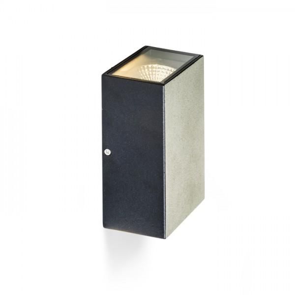 DIXIE 10x16 nástenná čierna  230V/350mA LED 2x5W 84° IP54  3000K