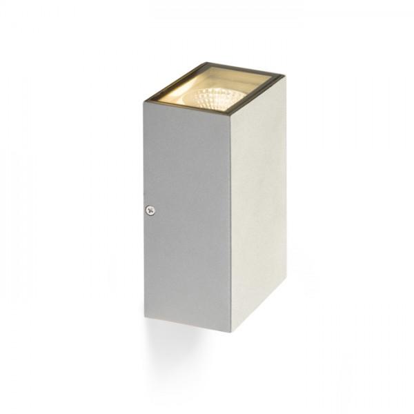 DIXIE 10x16 nástenná striebornosivá  230V/350mA LED 2x5W 92° IP54  3000K