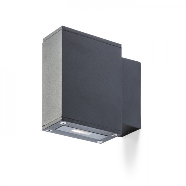 RENDL luminaria de exterior DIXIE 4x12 de pared negro 230V/700mA LED 2x3W 48° IP54 3000K R10355 1