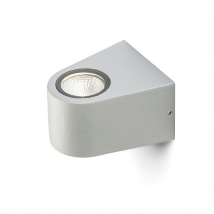 RENDL luminaria de exterior SIX de pared gris plata 230V/700mA LED 3W 60° IP54 3000K R10358 1