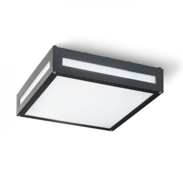 RENDL outdoor lamp PLAKA ceiling black 230V E27 2x26W IP54 R10359 1